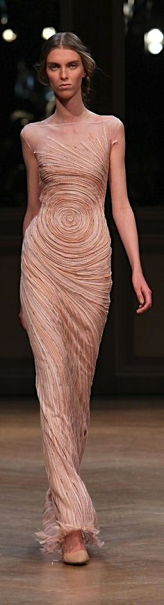 Georges Hobeika.  Coral peach couture gown
