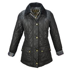 Barbour Quilted Wax Beadnell Black