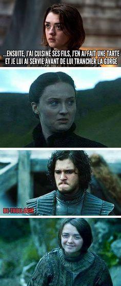 Arya, tu es impressionnante et écœurante en même temps... - Be-troll - vidéos humour, actualité insolite