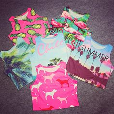 fit 32A 36B Stretch bustier Crop Top Harajuku summer style print bird pineapple palm letter women top wholesale-in Tank Tops from Women's Clothing & Accessories on Aliexpress.com   Alibaba Group