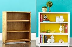 bookcase makeover by cindy