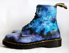Josefina.F.Martinez: Galaxy Print Dr Martens Sale On Etsy! Hand Painted.