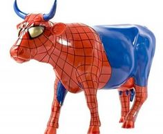 She must be Spider Girl Cow because she has blue udders! That would figure, also, because of her eye liner.