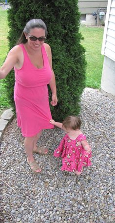 Pink Nursing Dress by myfunclothes on Etsy