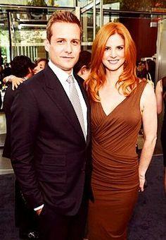 Sarah Rafferty (Donna) and Gabriel Macht (Harvey Spechter) of @suits_usa - a new TV favorite!