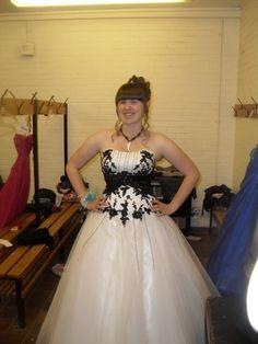 Hannah wearing Phoenix gowns