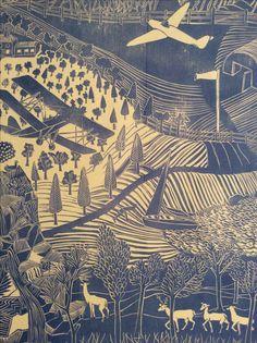 Marthe Armitage - Tigermoth wallpaper (detail)