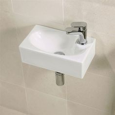 [gallery Still being confused what sink model you are going to install for your small bathroom? Now it has been produced the wide options of small wall mounted sink that fits a small bathroom. Small Cloakroom Basin, Downstairs Cloakroom, Small Bathroom Sinks, Small Sink, Small Toilet, Downstairs Toilet, Tiny Bathrooms, Cloakroom Ideas, Bathroom Black