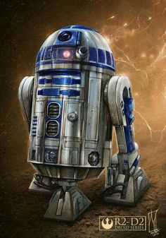 Fully rendered R2-D2