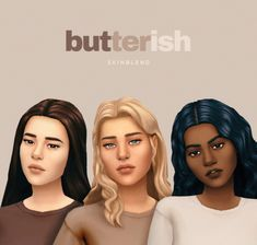 Lamatisse's Butterish Skinblend – Sweet Sims 4 Finds Los Sims 4 Mods, Sims 4 Body Mods, Sims 4 Game Mods, Sims 4 Body Hair, Sims 4 Cc Packs, Sims 4 Mm Cc, Sims Four, Maxis, Vêtement Harris Tweed