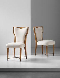 Gio Ponti, Pair of rare chairs