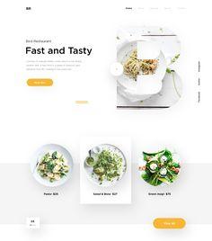 Best Restaurant Website For Inspiration [Dribbble] - DesignKetchup Food Web Design, Creative Web Design, Best Web Design, App Ui Design, Menu Design, Website Design Layout, Web Layout, Layout Design, Maquette Site Web