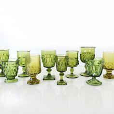 borrowed BLU//Green Pressed Goblets