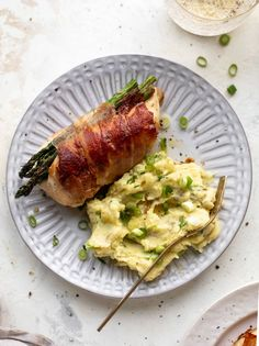prosciutto wrapped asparagus stuffed chicken Prosciutto Wrapped Chicken, Chicken Asparagus, Chicken Wraps, Clean Chicken, Spring Recipes, Stuffed Chicken, How Sweet Eats, Whole 30 Recipes, Vegetable Dishes