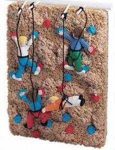 Rice krispy rock climbing   cake