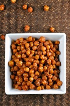 Roasted Chickpeas with Paprika, Curry and Herbs by All Four Burners