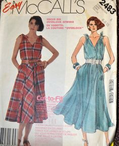 Vintage 80's Sewing Pattern McCall's 2483  by GoofingOffSewing