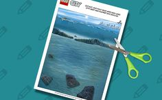 Click to download, print and cut your very own LEGO City Deep Sea playmat and skyline! Tools needed: printer, regular paper and scissors! Have fun!