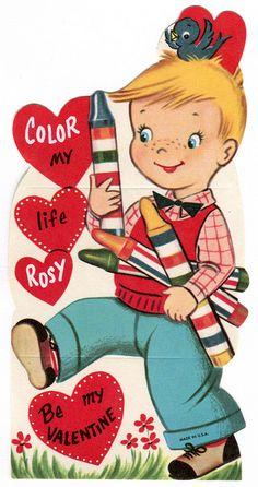 vintage valentine: crayon colors by karen horton, via Flickr