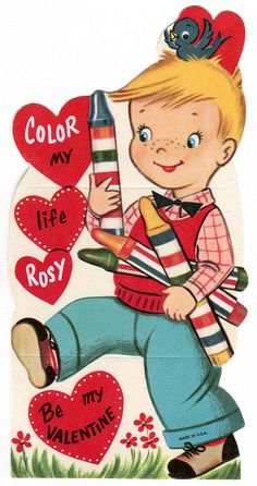 vintage valentine: crayon colors by karen horton, via Flickr