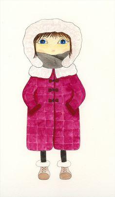 Watercolor girl #5 - Dawn