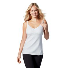 Bravado! Designs Women's Dream Nursing Tank - White 40F/G