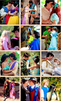 Disney Couples- They are all adorable. I want to be a Disney princess