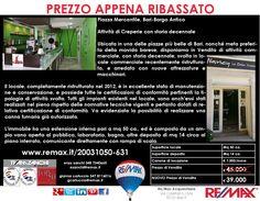 Prezzo Appena Ribassato Bari, Piazza Mercantile (Borgo Antico) Attività di Creperie con storia decennale www.remax.it/20031050-631 info 348 7340665