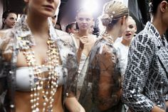Backtage at Chanel Spring/Summer 2012 RTW