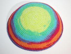 kippah multicolor by crochetkippah on Etsy