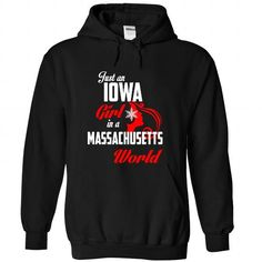 IOWA-MASSACHUSETTS Girl 05Red - #gift for guys #teacher gift. SATISFACTION GUARANTEED => https://www.sunfrog.com/States/IOWA-2DMASSACHUSETTS-Girl-05Red-Black-Hoodie.html?68278