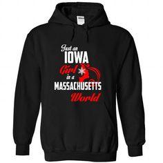 IOWA-MASSACHUSETTS Girl 05Red - #gift for guys #teacher gift. SATISFACTION GUARANTEED => https://www.sunfrog.com/States/IOWA-2DMASSACHUSETTS-Girl-05Red-Black-Hoodie.html?68278