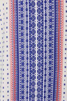 Catch a Glimpse Cream and Blue Print Dress at Lulus.com!