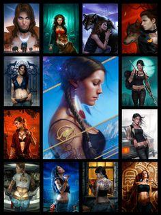 Patricia Briggs Cover Art of Mercy Thompson - Alpha & Omega by Dan dos Santos Art
