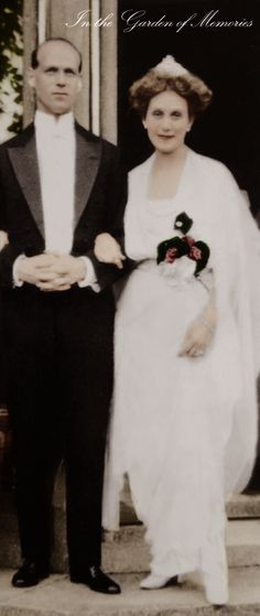 Tsar Nicholas II's youngest brother, Grand Duke Michael of Russia and his wife, Natasha Brasova, 1914