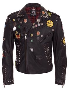 This punk jacket is incredible #punk #pins #patches #leather #jacket #alternative #motorcycle #rebel #rebelcircus