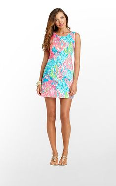 Delia Dress in Turquoise Lets Cha Cha - Lilly Pulitzer