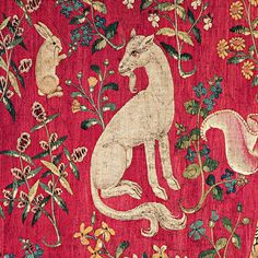 """Puppy unicorn, detail from """"Taste"""" panel, The Lady and the Unicorn Tapestry, Flanders, XV century"""