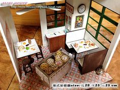 "(For detailed interior pics, please see my ""DollHouse Shops, Restaurants, Carts Stands Scenes"" board) 2013前半年聯合報團體課程(港式茶餐廳) @ Melissa's miniature :: 痞客邦 PIXNET ::"