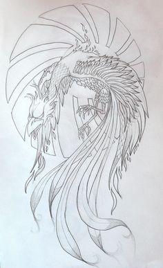 Phoenix+Bird+Drawings | phoenix tattoo by zioman