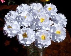 Sweet Gardenia  - handmade paper flowers designed by Dragonfly expression