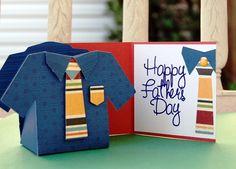Cricut® Everyday Cartridge, Tags, Bags, Boxes More® 2 - Katia Art Cor - Baixa o tutorial Cricut Tags, Cricut Ideas, Cricut Craft, Hello Thursday, Scrapbook Cards, Scrapbooking, Father's Day Diy, Shaped Cards, Fathers Day Crafts
