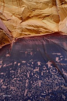 His(her)story---> Newspaper rock, The Needles, Canyonlands National Park, Utah; photo by Robyn Hooz Arizona Road Trip, Places To Travel, Places To See, Canyonlands National Park, Rocky Mountain National, Rocky Mountains, Travel Usa, State Parks, Beautiful Places