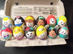 Easter eggs  Disney Princess  Ariel - sleeping Beaty - Mulan - Rapunzel  - Yazmin - Elsa - Cinderella - Snow White - Bella - Tiana - Merida - Thinker  bell