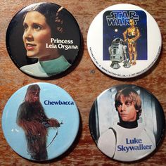 @Patti ºoº {TheClothspring.com}  Star Wars Pins 4pc now featured on Fab.