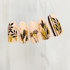 Wow Nails, Nails Only, Cute Nail Art Designs, Fall Nail Designs, Water Color Nails, Stick On Nails, Autumn Nails, Elegant Nails, Super Nails