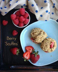 """Berry """"Scuffins"""" (scones/muffins). #vegan #glutenfree #soyfree"""