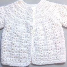 me ~ Newborn white cardigan - Infant matinee coat - Baby shower gift - Newborn baby coat - Infant white crochet jacket Cardigan Bebe, Crochet Baby Sweaters, Crochet Baby Cardigan, Crochet Cardigan Pattern, Crochet Baby Clothes, Crochet Jacket, Baby Knitting, White Cardigan, Pull Crochet