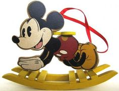 Mickey Mouse rocking horse ornament from Fantasies Come True