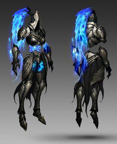 Death Maiden from Diablo III Reaper of Souls Fantasy Armor, Medieval Fantasy, Dark Fantasy, Character Concept, Character Art, Character Design, Armor Concept, Concept Art, Fantasy Creatures
